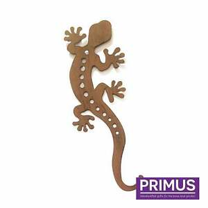 Primus Large Rusted Gecko Metal Garden Silhouette Wall Art