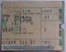 Rolling Stones Original Genuine Used  Concert Ticket Forum Los Angeles 1973