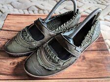 1571f6a52eaa94 DKODE Cuir Vert Rare Plat Mary Jane Escarpins Chaussures Taille 4 EU 37