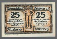 Notgeld - Belgern a. Elbe - Stadt Belgern - 25 Pfennig - 1921