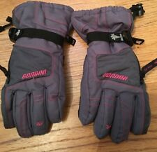 Girls Gordini Teens Xl Gloves Gray with Pink Trim adjustable Wrist - Excellent!