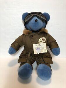 Vintage Spirit of St Louis Teddy Bear Charles Lindbergh suit North American Bear