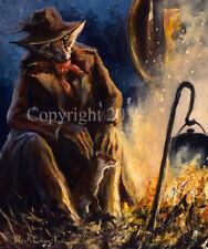 More details for mick cawston 'pot watcher'. funny widlife fox, fine art print