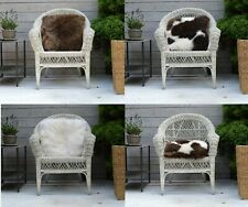 Big Thick Wool Genuine Sheepskin Cushion / Pillow Real Sheepskin Pieces Inner
