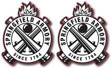 2X SPRINGFIELD ARMORY DECAL STICKER 3M USA MADE TRUCK GUN WINDOW CAR FIREARMS XD