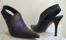 Donald J Pliner - Slingback Bootie Heels Off-Black (Dark Grey) 5M