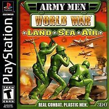 ***ARMY MEN WORLD WAR LAND SEA AIR PS1 PLAYSTATION 1 DISC ONLY~~~