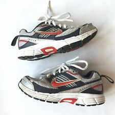 Nike Dart8 Boys Size 10.5 Black Red Silver Athletic Shoes