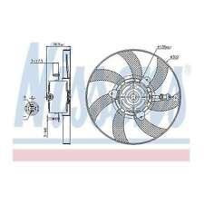 Fits VW Polo 6KV2 64 1,9 D Genuine Nissens Engine Cooling Right Radiator Fan
