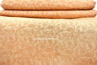 BY YARD GOLD FLORAL DAMASK FAUX SILK JACQUARD CURTAIN UPHOLSTERY FABRIC MATERIAL