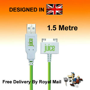 Juice USB 30 Pin Cable Charger Lead For Apple iPhone 4 4S 3 3GS iPod iPad 3 2 1