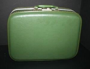 VTG Train Case Suitcase 1960s Avocado Green Hard Shell