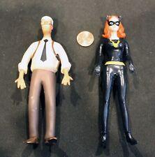 NJCroce DC Comics BATMAN Figures: Rubber Bendy CATWOMAN & COMMISSIONER GORDON