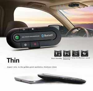 Wireless Bluetooth Car Visor Clip Speakerphone Auto Kit Speaker MP3 Music Player