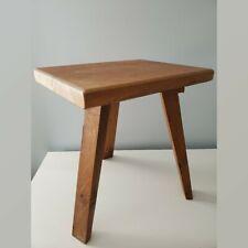 Vintage 3 Legged Handmade Wood Stool