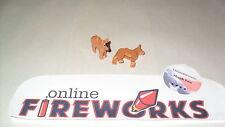 Lego Animal DOG Lot of 2 German Shepherd Light brown Police K-9 Minifigures Pet