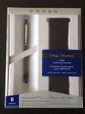 A.T. Cross Classic Century Ballpoint Pen #2902 Black Matte W/Chrome Accents, NIB