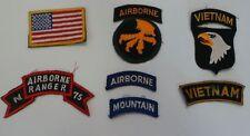 MILITARAIA : SET OF 7 U.S. AIRFORCE VARIOUS VIETNAM PATCHES. REF: C149