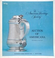 Catalogue de vente Americana The american Heritage Society Chippendale verrerie