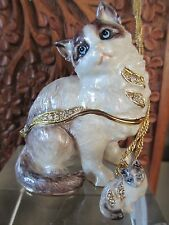Ragdoll Cat Jeweled Trinket Box & Matching Necklace 62643