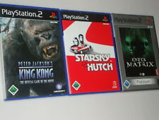 Collection playstation 2/ps2 starsky & hutch King Kong matrice complètement toutes les