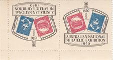 Stamps ANPEX Adelaide exhibition 1950 Cinderella labels tete-beche pair, MUH