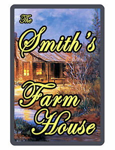 Personalized FARM House Sign Printed with YOUR NAME Aluminum Signs Full color213