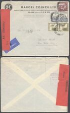 Palestine WWII 1941 - Cover to USA - Censor 10000/90