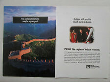 9/1992 PUB PRATT & WHITNEY CANADA PW300 TURBOFAN MURAILLE DE CHINE CHINA AD