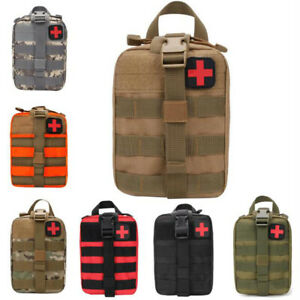 Tactical First Aid Kit Survival Molle Rip-Away EMT Pouch Bag IFAK Medical