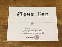 Personalised Wish Bracelet hashtag hen do team hen wedding girls night gift
