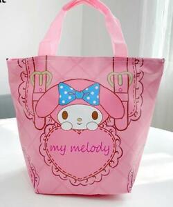 My melody love PU Tote Bags Handbag Lunch Bag storage bag zip fashion new