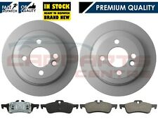 FOR MINI R50 R53 ONE 01-06 COOPER COOPER S WORKS ONE D REAR 2 BRAKE DISCS & PADS