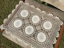 Vintage Delicate 3D Flower Hand Crochet Lace Embroidry Doily/Topper/Tray Cloth