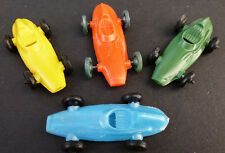4 Vintage 1960s Racing Cars 5cm Old Shop Stock Made in Hong Kong