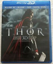 Thor (Limited Edition, Bluray, 3D, Dvd, Marvel, 2011, OOP) Canadian