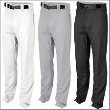 Rawlings Unhemmed Relaxed Fit Baseball Pants BPU350 White Black Gray