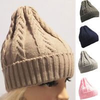 Mens Women Baggy Warm Crochet Winter Wool Knit Ski Beanie Skull Slouchy Caps Hat