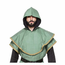 Men's Adult Medieval Huntsman Hood Costume Accessory Green Ninja Assassin