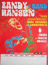 RANDY HANSEN 2014 Tour Orig. Concert-Concert-Tour-Poster - affiche DIN a1.