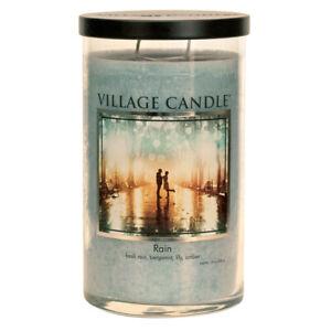Village Candle Double Wick Large Decor Candle Jar - Rain