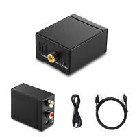 Koaxial Toslink Digital zu Analog Audio Konverter Wandler Adapter RCA L/R Kabel