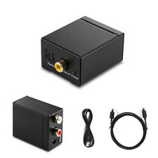 Schwarz Digital Optisch Toslink Coax auf Analog L/R RCA Audio Konverter Adapter