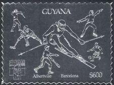 Guyana 1992 Juegos Olímpicos de Plata// Deporte/esgrima/Fútbol/hockey sobre hielo n42892 1 V S/a