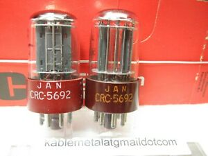 5692  6SN7 GT RCA NOS Matched Pair TV7 Tested