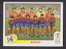 Panini - Korea Japan 2002 World Cup - # 241 South Korea Team Group
