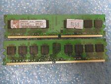 2GB Kingston 2x 1GB DDR2-800 PC2-6400 CL5 Dimm Unbuffered KVR800D2N5/1G Desktop