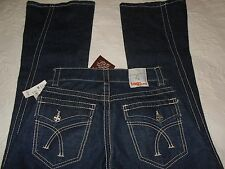 """Women'Jeans TAG + Sz 26 Inseam 34"""" TWISTED DARK BOOT Flare Bell Wide  NWT $297."""