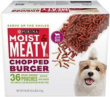Purina Moist  Meaty Dog Food, Chopped Burger, 216-Ounce Box, Pack of 1