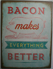 Iron Tin Metal Sign Home Kitchen Bacon make everthing better mom Decor wall art